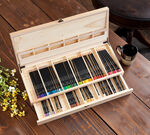 Wooden Art Case Open- Panned out
