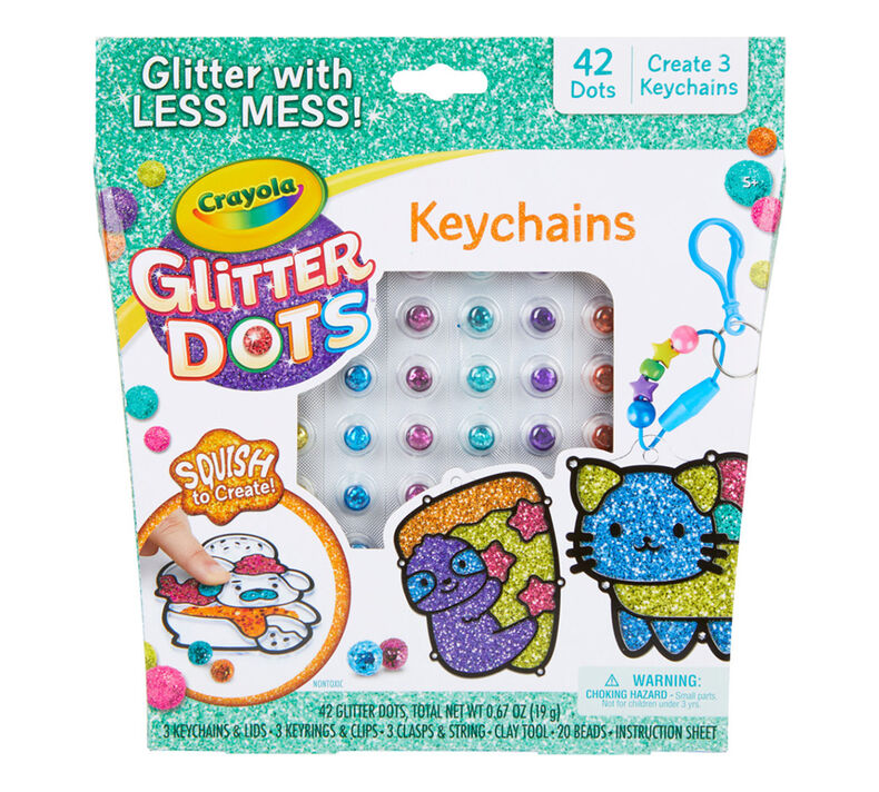 Glitter Dots DIY Keychains
