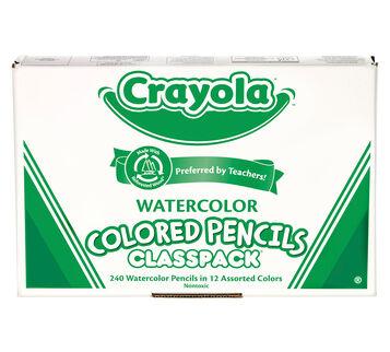 240 Count Watercolor Pencils Classpack, 12 Colors