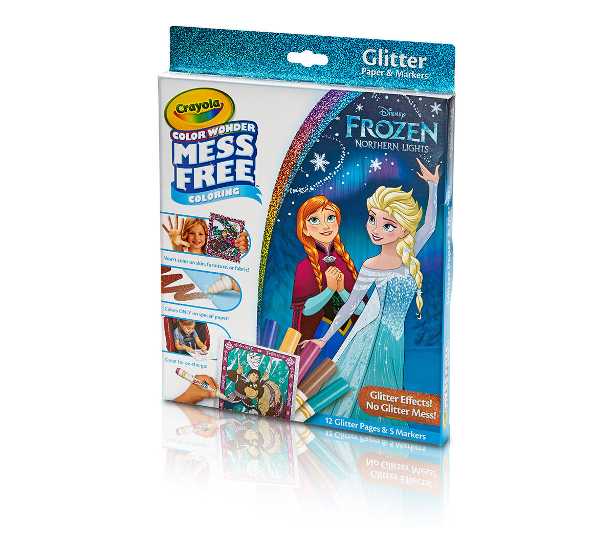 Color Wonder Glitter Paper and Markers Box Set Disney Frozen - Crayola