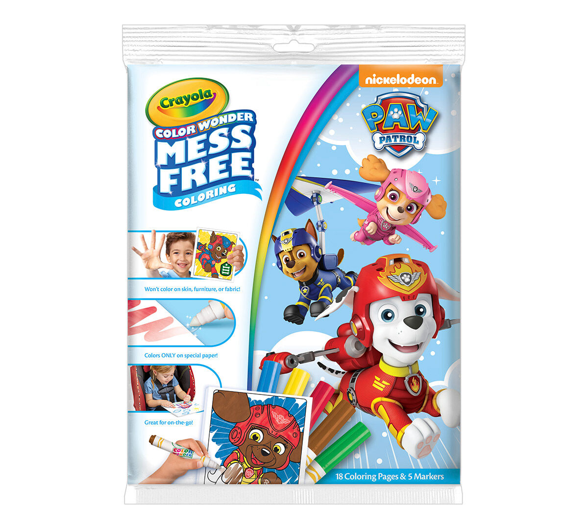 Color Wonder Mess Free Coloring Pad & Markers, Paw Patrol