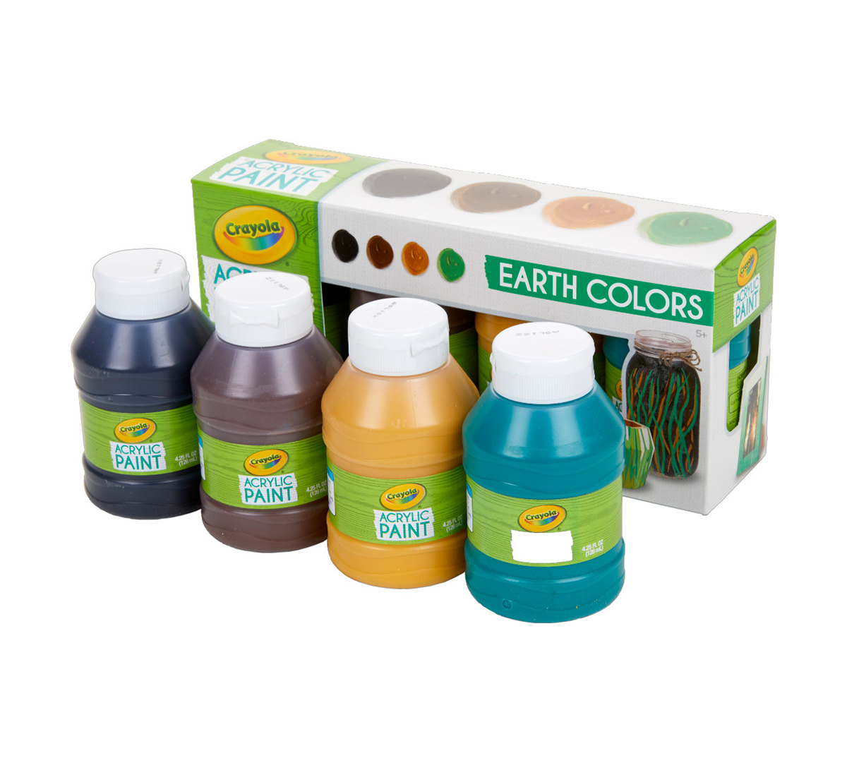 Multi Surface Acrylic Paint Earth Colors 4 Count