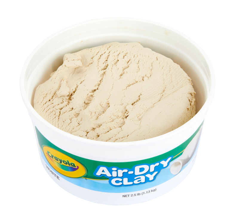 White Air Dry Clay, 2.5 lb Resealable Bucket