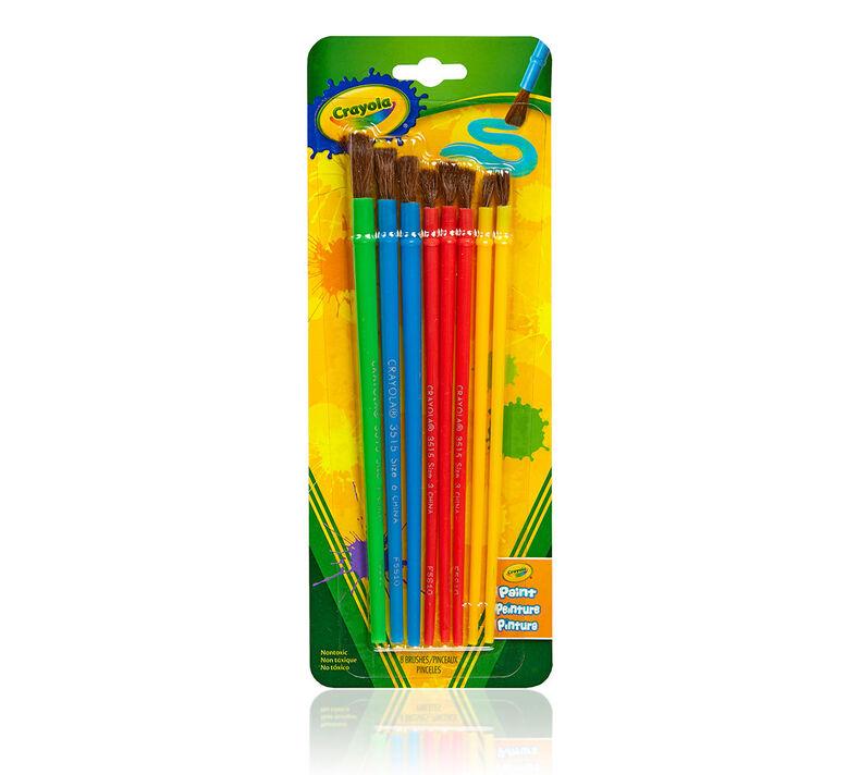 Paint Brush Set, 8 Count