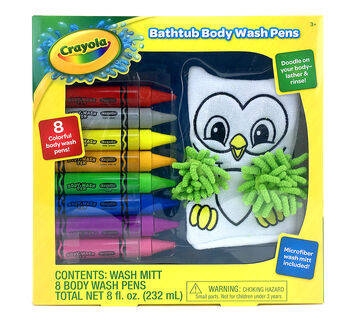 Bathtub Body Wash Pens in package
