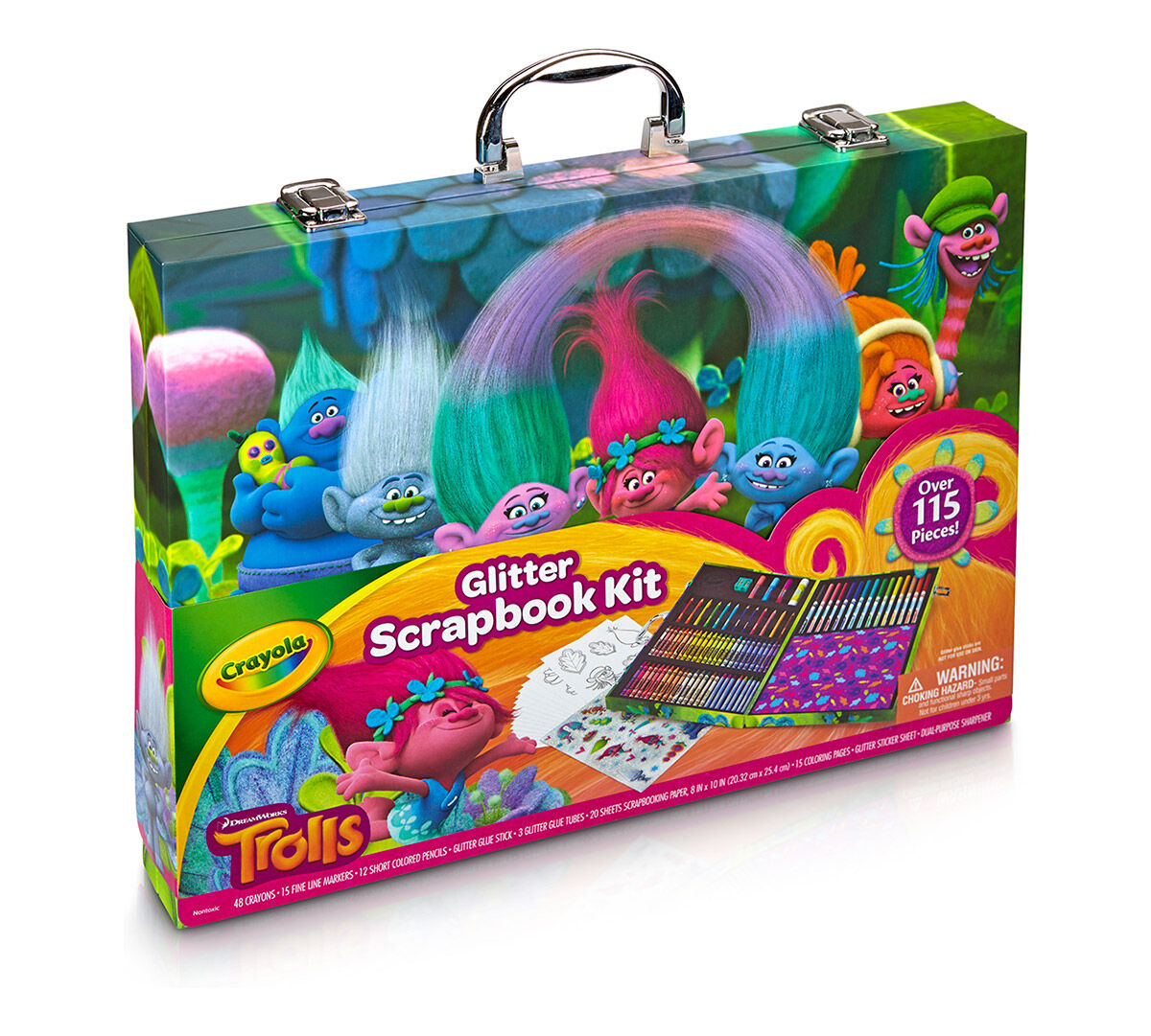 Trolls Glitter Scrapbooking Set Crayola