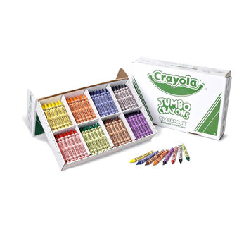 Crayola Jumbo Crayons, 200 Count, 8 Colors