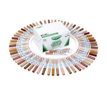Multi-Cultural Ultra-Clean Washable Markers Classpack, 80 Count, 8 Colors Markers out of box