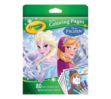 mini coloring pages frozen