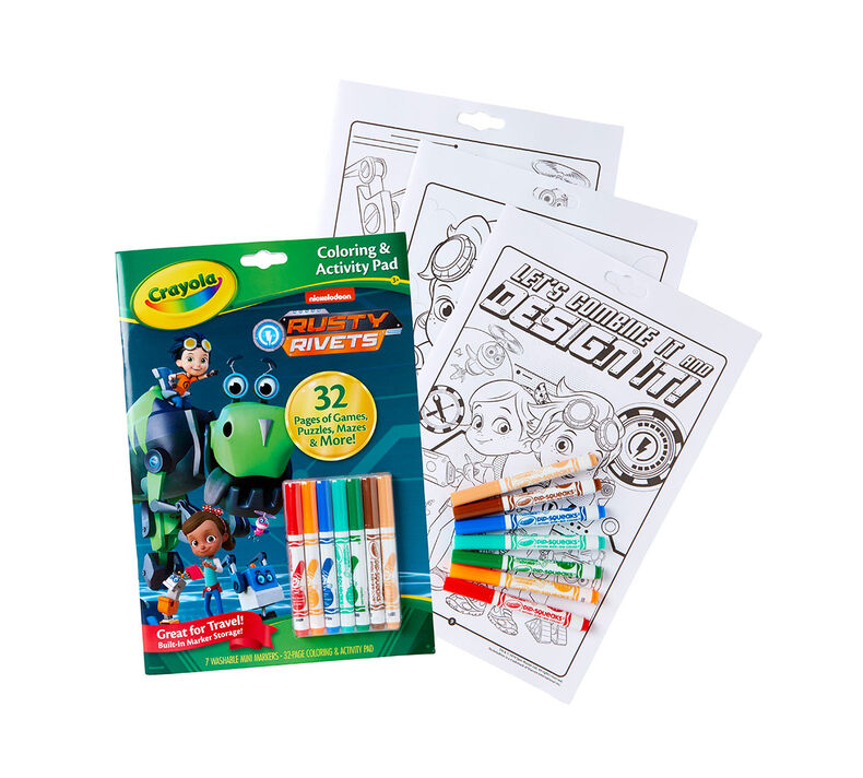 Coloring & Activity Pad with Markers, Rusty Rivets