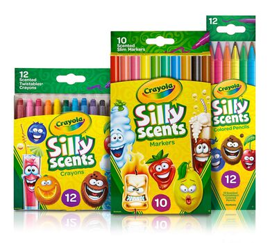 Silly Scents Coloring Set, Scented Art Supplies| Crayola.com