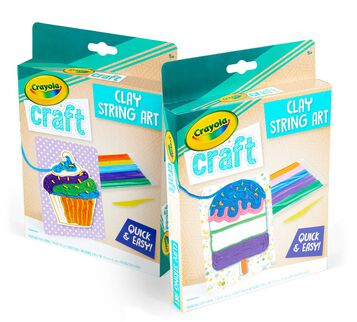 Clay String Art Craft Kit, Mystery Design Popsicle and Cupcake Designs