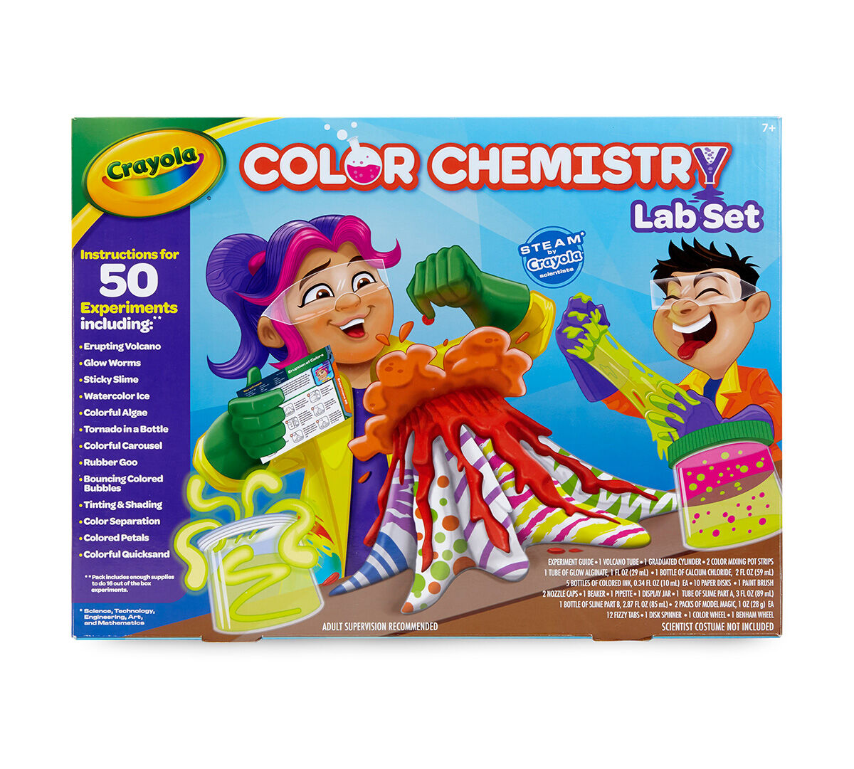 Crayola Color Chemistry Set for Kids, Over 50 STEAM/STEM Activities ...