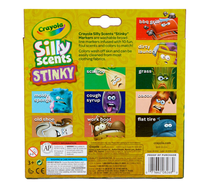 Crayola Silly Scents Stinky Scented Markers, 10 Count ...