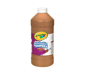 Artista II Washable Tempera Paint, 32 oz Brown