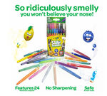 Silly Scents Mini Twistables 24 count Crayons open package