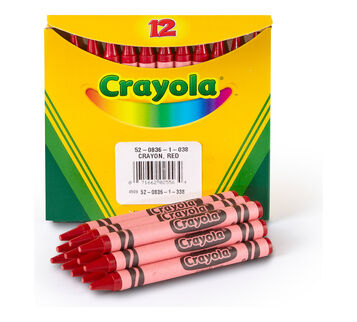 Bulk Crayons, 12 Count, Choose Your Color