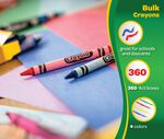 4 Count Crayons 360 Boxes Per Case Pack