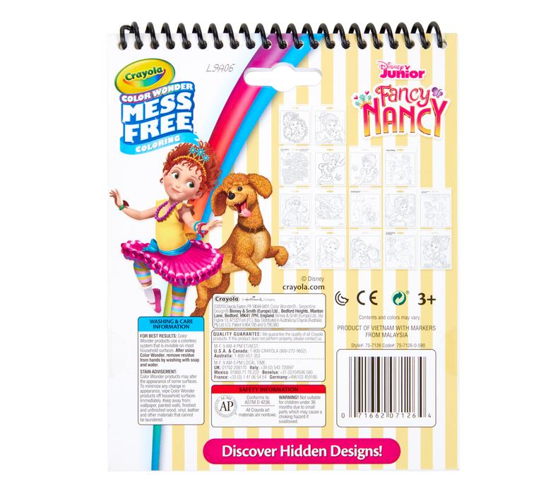 Color Wonder Mess Free Fancy Nancy Activity Pad