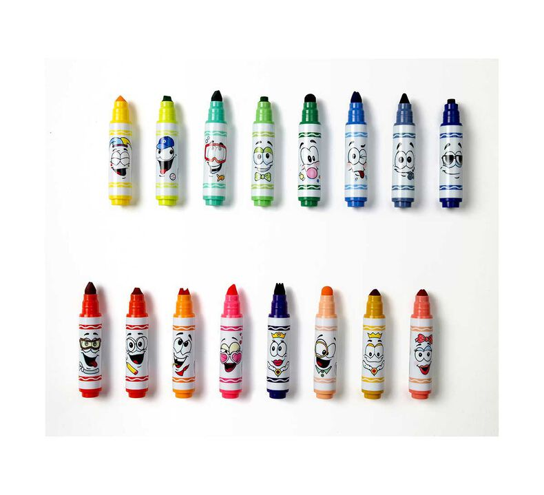 Pip Squeaks Washable Markers with Wacky Tips, 16 Count