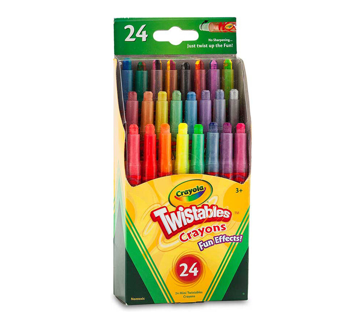crayola fun effects mini twistables crayons 24ct gift for kids