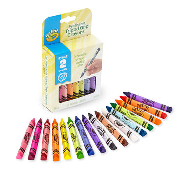 My First Crayola Washable Tripod Grip Crayons, 16 count