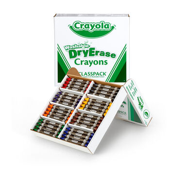 Bulk Dry Erase Washable Crayons, 96 Count