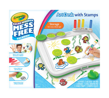 Crayola Color Wonder Art desk with Stampers front