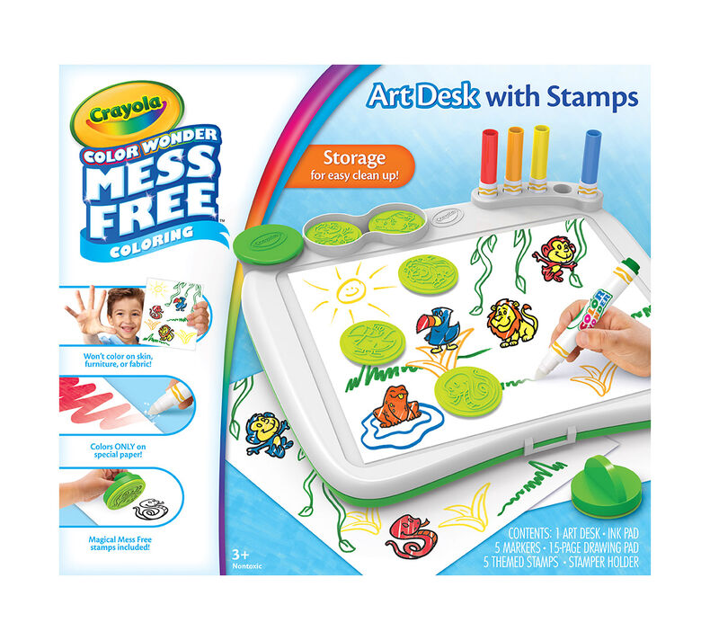 Color Wonder Mess Free Art Desk with Stamper