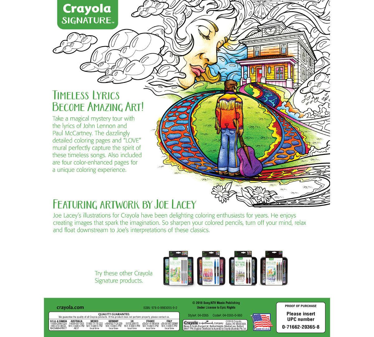 picture relating to Christmas Carol Lyrics Printable Booklet identified as Lennon and McCartney Lyrics Coloring Reserve  Crayola