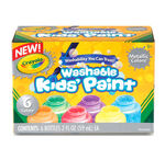 Washable Kids Paint 6 count Glitter front