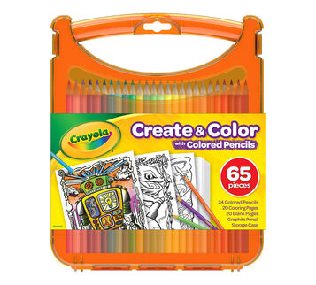 Create and Color with Colored Pencils front of package