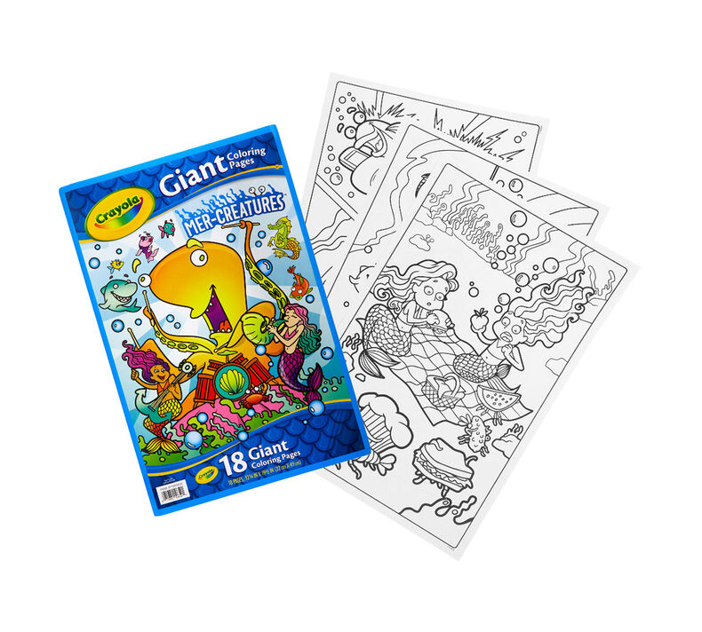 Giant Mermaid Coloring Pages for Kids | Crayola.com | Crayola