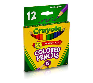 Short Colored Pencils, 12 Count