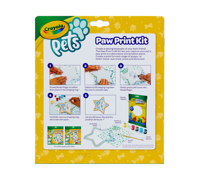 Crayola Pets Paw Print Keepsake Kit, Star