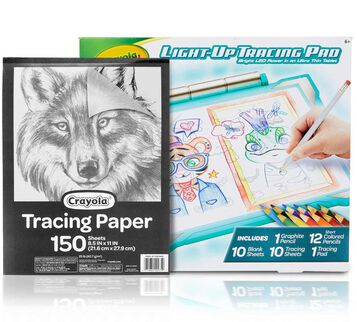 Teal Light Up Tracing Pad with Tracing Paper