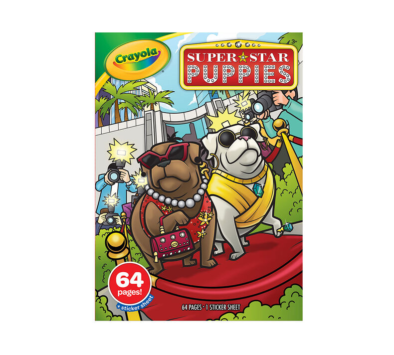 Superstar Puppies Coloring Book