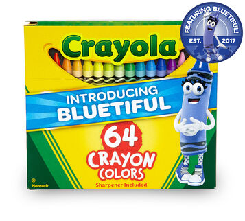64 count Crayons with New Bluetiful