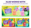 Washable paint stampers also work with other Crayola Project Paint products