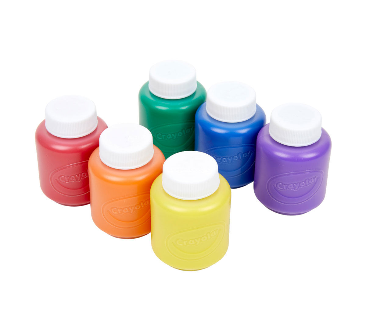 Crayola Washable Kids Paint 6 Count Classic Colors Painting Supplies Gift