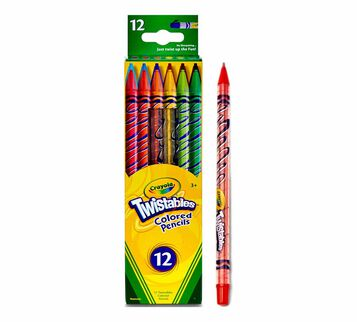 Twistables Colored Pencils, 12 Count Front of Box