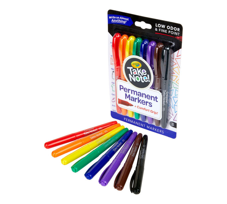 Take Note Permanent Markers, 8 Count