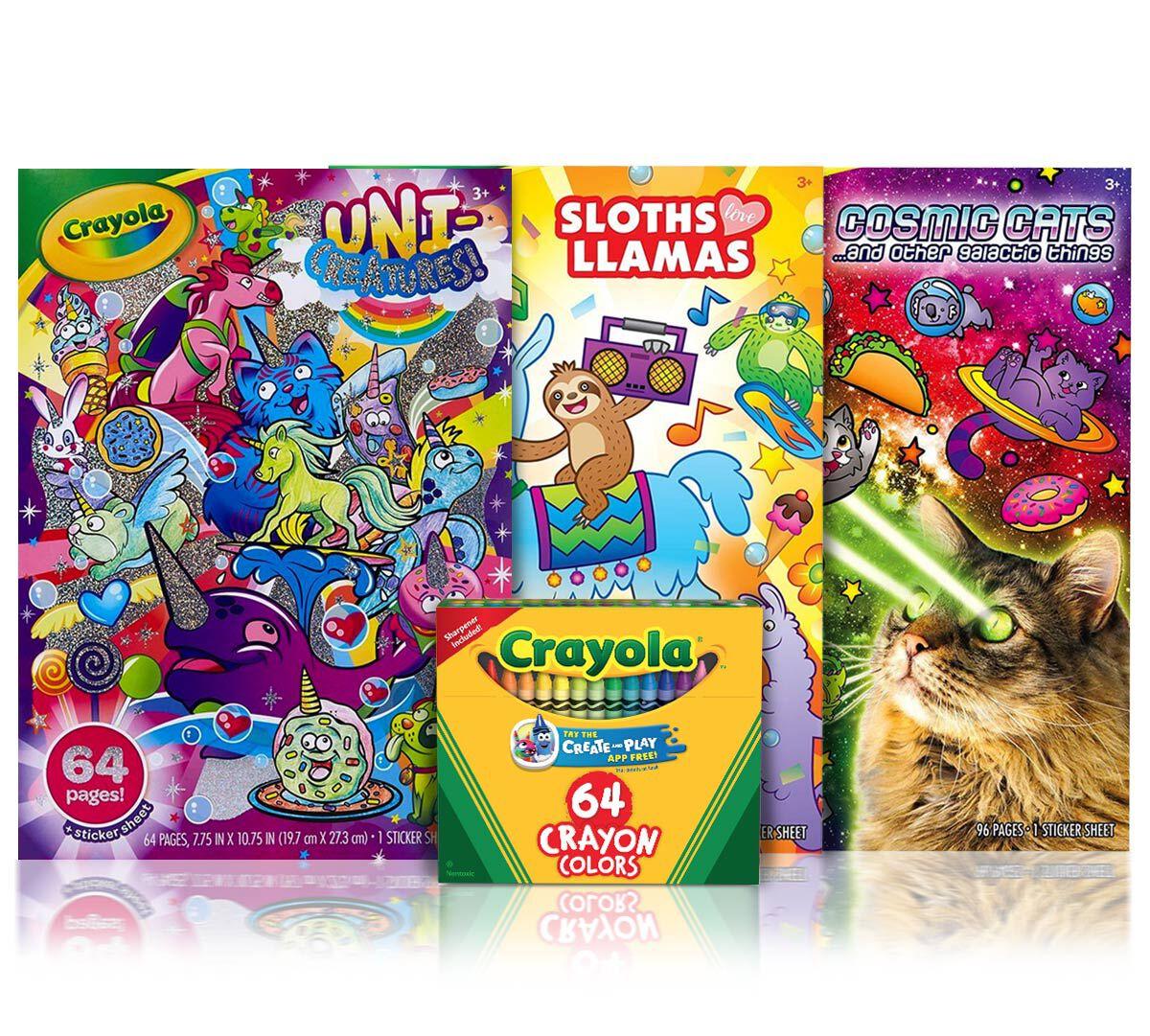 - 3 Animal Coloring Books With 64 Crayon Box Crayola.com Crayola