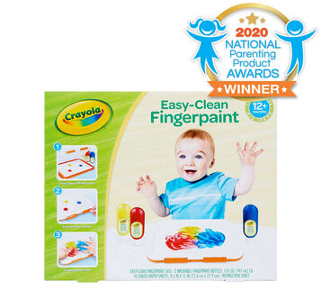 Washable Finger Paint Set for Toddlers Front View of Box