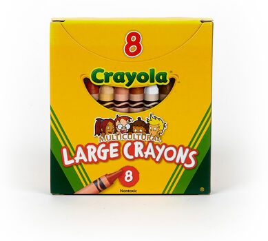 Multicultural Large Crayons, 8 Count