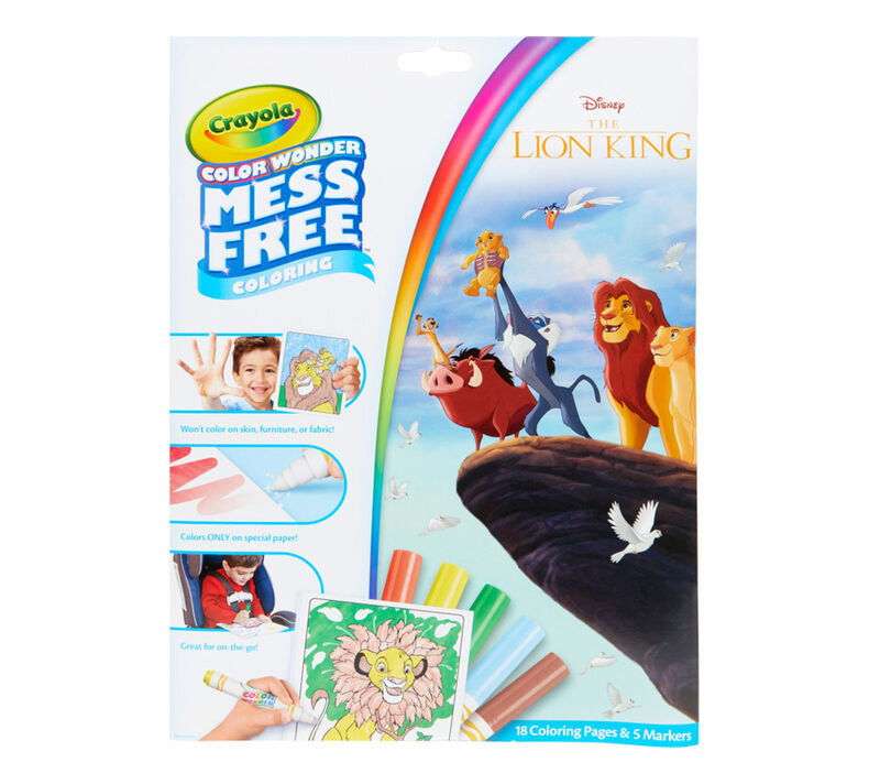 Color Wonder Mess Free Lion King Coloring Pages & Markers