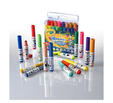 PipSqueaks Washable Markers with Wacky Tips, 16 Count