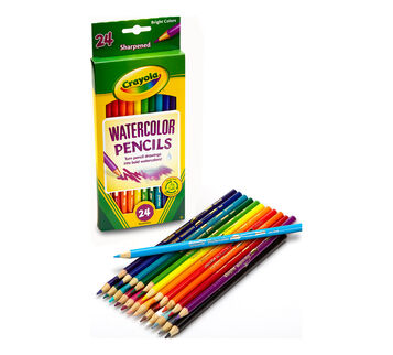 Front out of box watercolor 24 ct pencils