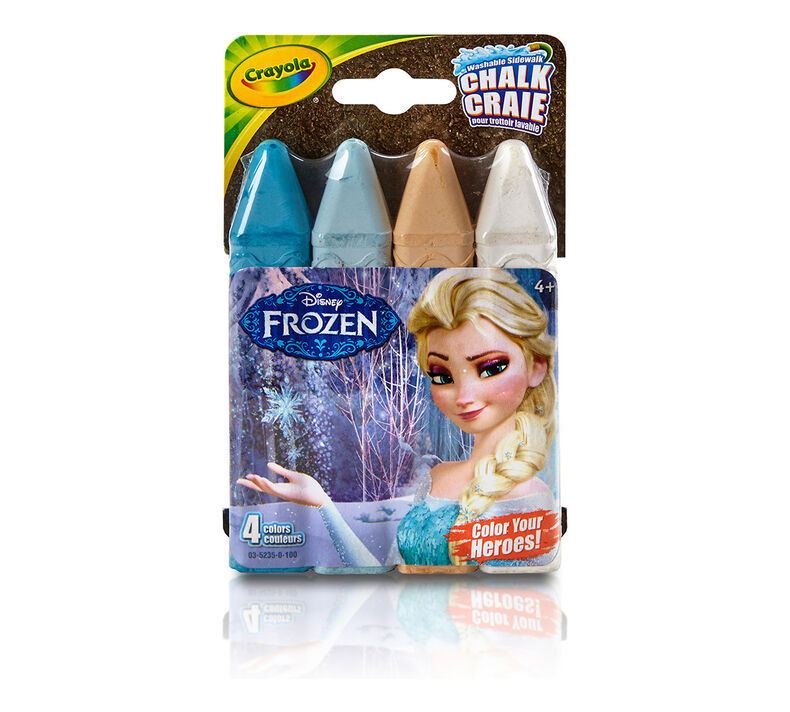 Frozen Washable Sidewalk Chalk, 4 Count