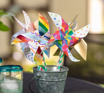 Paper Pinwheels finished craft